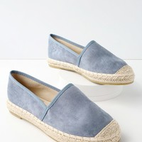 Gamila Blue Suede Slip-On Espadrille Sneakers