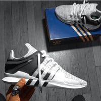 Adidas EQT Support Boost Contrast Fashion Men Running Sport Casual Shoes Sneakers Black White G-AA-SDDSL-KHZHXMKH