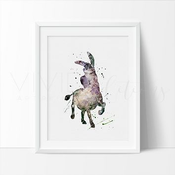 Donkey, Shrek Watercolor Art Print