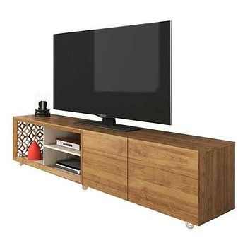 "78.74"" X 19.71"" X 19.68"" Modern TV Stand With Silicone Wheels"