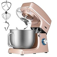 660W 6-Speed Tilt-Head Kitchen Electric Food Mixer with Beater