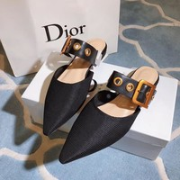 Dior Black Technical Canvas Flat Shoes
