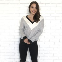 Love Me Not V-Neck Sweater Top