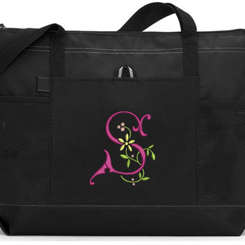 Buttercup Monogrammed Tote Bag
