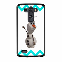 Olaf Disney Frozen Blue Chevron LG G3 Case
