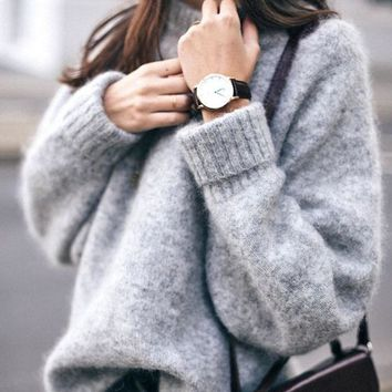 Knit Bottoming Shirt Round-neck Pullover Sweater Jacket [11894767375]
