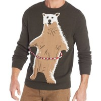 Alex Stevens Men's Polar Bear Hoopla Ugly Christmas Sweater
