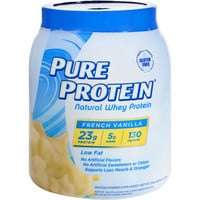 Pure Protein Whey Protein - 100 Percent Natural - French Vanilla - 1.6 Lb