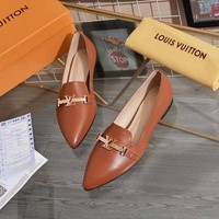 LV Louis Vuitton Hot Sale Women Genuine Leather Brown Fahsion Casual Shoes Sneakers