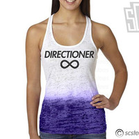 One Direction Directioner Singlet  1D Burnout Tank Top by scstees