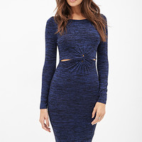 FOREVER 21 Knotted Sweater Dress Black/Navy
