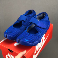 HCXX 19July 609 NIKE AIR RIFT Men's and women's sports and leisure running ninja shoes blue