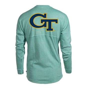 Official NCAA Venley Georgia Tech Yellowjackets GT RAMBLIN WRECK! Women's Long Sleeve Spirit Wear Jersey T-Shirt