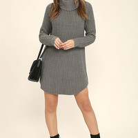 Element Eden Eleventh Grey Sweater Dress