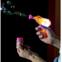 Shining Bubble Gun Shooter Blower Outdoor Kids Child Toys Gift