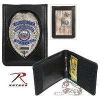 Rothco Leather Neck Identification Badge Holder
