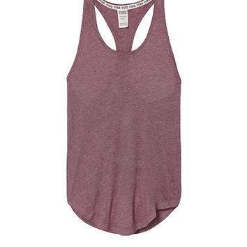 Curved Hem Tank - PINK - Victoria's Secret