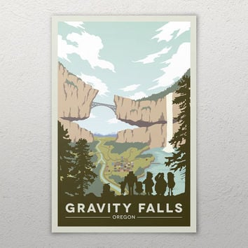 Gravity Falls National Park Poster