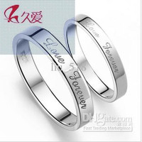 The long-standing love 925 sterling silver rings women ring couple men couple ring tail ring