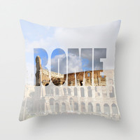Rome Throw Pillow by Salty Lyon | Society6