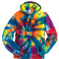 Rainbow Multi-Color Cut-Spiral Hoodie