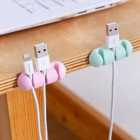 Fashion Casual 2pcs Data Cable Securing Holder