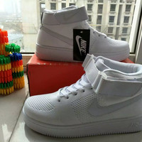 """""""NIKE"""" Fashion Casual Flying Weave High Help Shoes Unisex Sneakers Couple Running Shoes"""