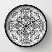 Pattern in Black & White Wall Clock by Micklyn