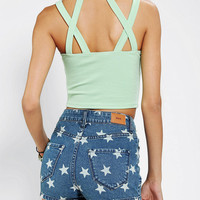 Urban Outfitters - Sparkle & Fade Cross-Strap Bustier Top