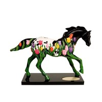 Trail of Painted Ponies Tip Toe Through The Tulips Figurine 6-1/4-Inch