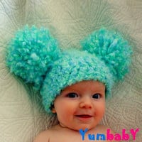 Baby Hats Pom Pom Hat Baby Girl Hat Crochet Baby Girl Hats Newborn Photography Props Hats Photo prop Baby Girl Hats