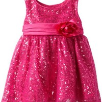 Youngland Baby Girls' Squiggle Sequin Dress, Fuschia, 24 Months