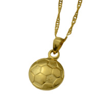 Gold Plated Soccer Ball Necklace
