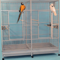 Stainless Steel Extra Large Double Bird Cages with Divider - AHMED BIRD BREEDERS FARM