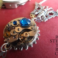 The Clockwork Butterfly Effect Necklace - Steampunk Butterfly Necklace - Steampunk Necklace - Steampunk Jewelry - Steampunk by Steamretro