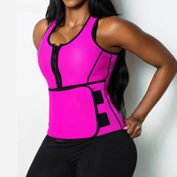 Women Hot Neoprene Firm Shaper Body Slimming Waist Trainer Belt Sleeveless Burning Calories Shapers