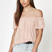 Kendall and Kylie Textured Goddess Off-The-Shoulder top at PacSun.com
