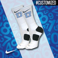 Nike Elite Crew Basketball Socks customized with your lacrosse number   Lacrosse Unlimited