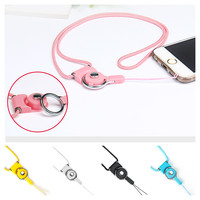 Fashion Universal Detachable Lanyard For Phone Accessories Neck Straps Key Keychain Phone Chain Rotation Long Hanging Badges