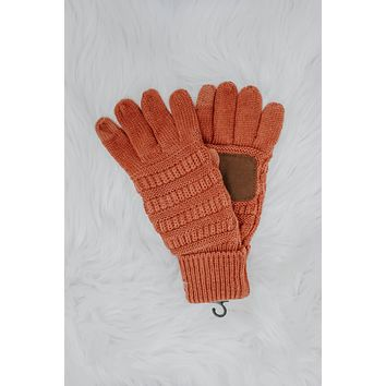 Chilly Breeze Smart Tip Gloves - Rust