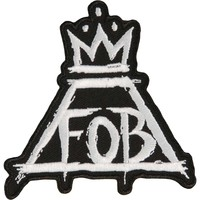 Fall Out Boy Men's Crown Embroidered Patch Black