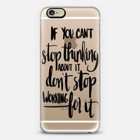 Can't Stop Don't Stop (black) iPhone 6 case by Glitter & Bold   Casetify
