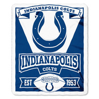 Indianapolis Colts NFL Light Weight Fleece Blanket (Marque Series) (50inx60in)