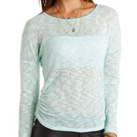 Strappy Back Sweater Knit Top by Charlotte Russe