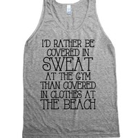 Covered in Sweat-Unisex Athletic Grey Tank