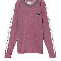 Long Sleeve Ringer Tee - PINK - Victoria's Secret