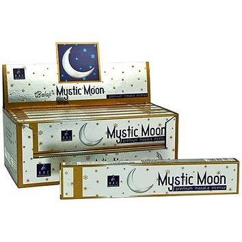 Balaji Mystic Moon Incense - 15 Gram Pack (12 Packs Per Box)