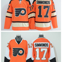 Philadelphia Flyers 17 Wayne Simmonds Winter Classic Jerseys Ice Hockey Sports Team Color Orange Alternate White
