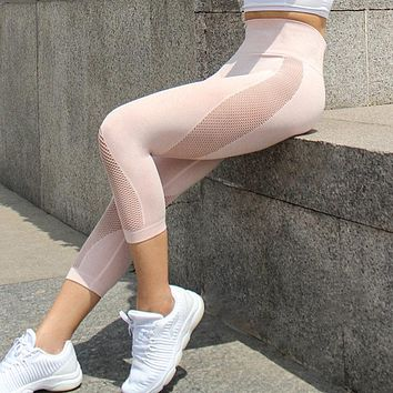 Liliana- Mesh Capri Seamless Yoga Pants