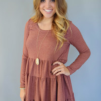Colorado Pine Tiered Dress Rust